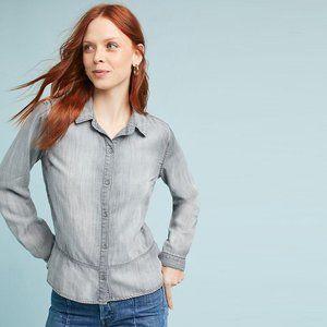 Cloth & Stone Ruffled Peplum Buttondown - Large